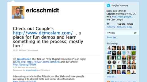 Eric Schmidt deemed our Demo Slam campaign tweet-worthy, putting it in the company of just 85.