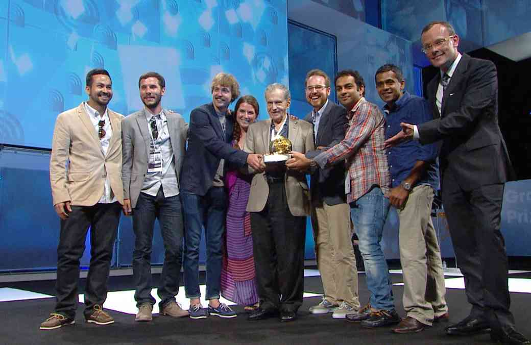 We shared the stage with Ad Legend Harvey Gabor and our friends at Grow Interactive to accept the inaugural Mobile Grand Prix at Cannes 2012.